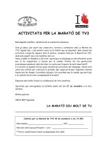 Activitats per la Marató de TV3